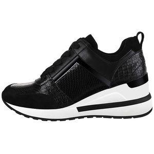 Shoes - Black Wedge Sneakers Lightweight Walking Shoes